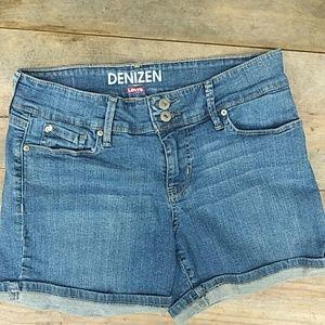 DENIZEN From LEVI'S 5 Pocket Jean Shorts Size 2